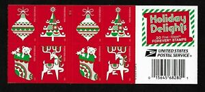 Christmas (forever) 2020 Issue - Holiday Delights - MNH Booklet Pane of 20