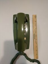 Vintage Bell System Western Electric Push Button Wall Telephone - Avocado Green