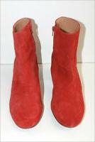 ANDRE Bottines Boots Daim Rouille Doublées Cuir Bouts Ronds T 40 TBE