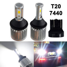 2x T20 7440 W21W Super Bright COB LED Bulbs Back Up Reverse Light 6000K White