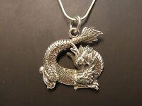 Halskette Anhänger necklace pendant 925 SILBER silver Drachen dragon, drago