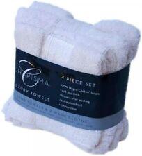 Charisma 100% Cotton 4 Piece Towels Set 2 Hand + 2 Face Cloths White ~ FREE P&P