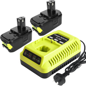 18V 5.0Ah Battery & Charger for Ryobi One+ Plus P108 P102 P105 RB18L50 Lithium