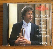 Telemann - Trumpet Concertos CD Nimbus Records, John Wallace - trumpet