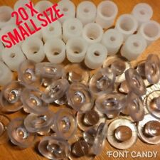 20x Small Locators Letter Fixings For Sign Makers Snapfix Locators