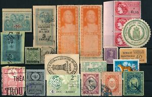 WORLDWIDE UNCHECKED OLD LOT OF DIFF. STAMPS & REVENUES, SEE... #N968