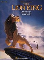 The Lion King Sheet Music Piano Vocal Guitar Songbook NEW 000312504