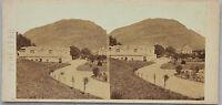 Luchon Pyrenees Foto Stereo Albumina Vintage Verso 1865
