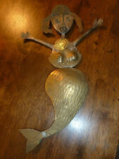 Welded Metal Mermaid Sculpture - Recycled Silverware Art - Wall Art - unsigned