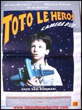TOTO LE HERO Affiche Cinéma pliée 53x40 Movie Poster CANNES 1991