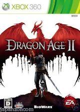 Used Xbox 360 Dragon Age II MICROSOFT JAPAN JAPANESE JAPONAIS IMPORT