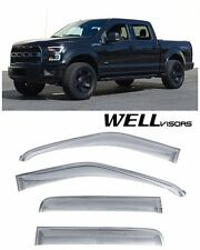 For 15-16 Ford F-150 Crew Cab  WellVisors Side Window Visors Off-Road Series