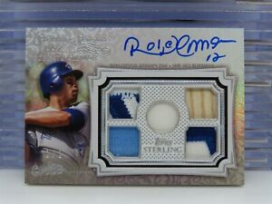 2020 Topps Sterling Roberto Alomar # 1/1 Game Used Bat Patch Auto Blue Jays S8