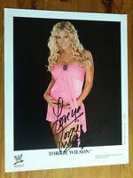 "Torrie Wilson WWE original signed 10 x 8"" photo certified"