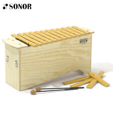 New Sonor Bkx100 16 Tones Bass Palisono Xylophone with 1 Pair of Mallets