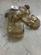 Old Navy Jelly Sandals Gold Sparkle 0-3 Months NEW