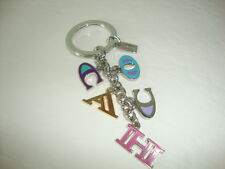 Brand New Coach Letters Mix Keychain Ring