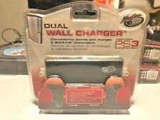 PlayStation 3 Controller Dual Wall Charger by Mad Catz PS3 Controller Brand NEW