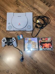 Sony PlayStation 1 PSX Set (SCPH-7502 - PAL) 2 Spiel, Controller und Memory Card