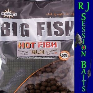 Dynamite Baits Hot Fish & GLM 15mm Session Pack of 25 Boilies