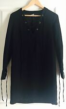 KOOKAI WOMENS DRESS BLOUSON LINED BLACK WORK PARTY NEW SZ 36