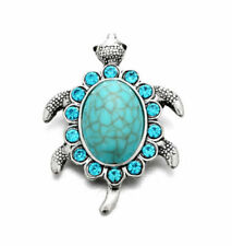 3dcrystal Turquoise Tortoise Charm Snap Button Fit for Noosa Necklace/bracelet 1