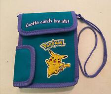 Vintage Pokemon Teal/Purple Nintendo Game Boy Color Carrying Case Pikachu