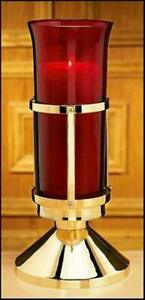 SANCTUARY LAMP WITH RUBY GLOBE