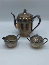 Antique F.B. Rodgers #2307 Silver Coffee/Tea Set with Creamer & Sugar Servers