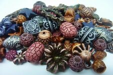 100 pce Mix Antique Style Acrylic Beads & Charms 7mm - 22mm Jewellery Making