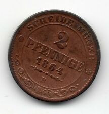 Germany - Sachsen / Saxony - 2 Pfennig 1864 B