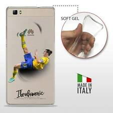 Huawei P8 Lite COVER PROTETTIVA GEL TRASPARENTE Calcio Soccer Zlatan Ibrahimovic