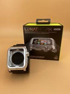 LUNATIK EPIK Aluminum Case + Silicone Band for Apple Watch 42mm - Silver