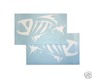 G. LOOMIS SKELETON FISH BOAT STICKER SET - WHITE