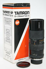 Tamron SP 70-210mm f3.5-4 Zoom lens Olympus OM mount with tripod grip Adaptall 2