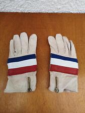 Anciens gants en cuir MOTOBECANE pour mobylette, moto, cyclo France vintage 1960