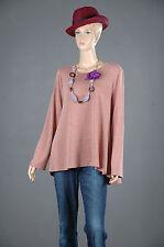 2 Oversize-Stil 2Tlg.Set Pullover + Halskette Tunika A-Linie Bluse Top 52 54 XXL
