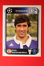 PANINI CHAMPIONS LEAGUE 2010/11 # 121 FC SCHALKE 04 RAUL BLACK BACK MINT!