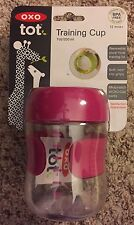 Oxo tot Training Cup 7 oz Pink 200 ml Soft Non-Slip Grip 12 mos+ Bpa Free
