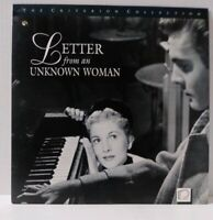 LETTER FROM AN UNKNOWN WOMAN Criterion Collection Laserdisc LD - 1948 Free Ship