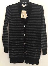MICHAEL Michael Kors Lurex Stripe Boyfriend Cardigan. Size S.