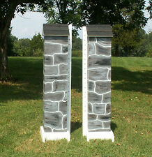 Horse Jumps SKINNY Stone Wooden Columns Pair/6ft #SC219