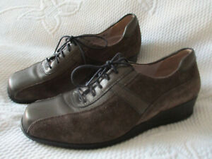 WALDLAUFER Ladies smart brown laced shoes U.K. 4 (EUR 37) H Wider fit
