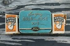 Vintage nos 1950' s Ford accessories promo fomoco auto bulb tin