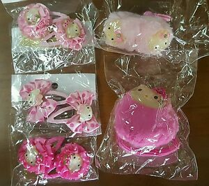 SET OF 5: HELLO KITTY HAIR ACCESSORIES