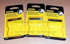 3x NEW Stanley Bostitch Razor Blade Mini SCRAPERS 28-100 *NIP* FAST FREE SHIP!