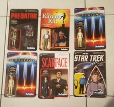 Lot 6 action figure predator, the fifth element, scarface, the karate kid new