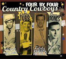 COUNTRY COWBOYS - Hank Williams, E Tubb, Eddy Arnold, George Jones [4CD Box Set]