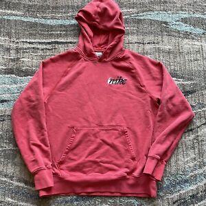 Men's Nike Sportswear Red Faded Pullover Hoodie Sweatshirt Sz Large Air Swoosh