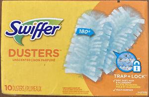 Swiffer Refill Dusters, Dust Lock Fiber, Light Blue, 10 Dusters (PGC21459BX)